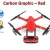 สติกเกอร์แบบ Carbon Graphic สำหรับ DJI Mavic Pro - สีแดง