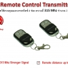 รีโมทไร้สาย Wireless Remote Control Transmitters ควบคุมอุปกรณ์ไฟฟ้าได้ 4 ช่อง ความถี่ 315 Mhz เรียนรู้รหัสได้ จำนวน 2 ตัว