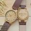 Wooden ChroNos นาฬิกาข้อมือไม้ สลักข้อความได้ สายหนัง WC301 thumbnail 1