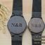 WoodenChroNos นาฬิกาข้อมือไม้คู่ สลักข้อความได้ สายหนัง WC203 thumbnail 4