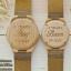 WoodenChroNos นาฬิกาข้อมือไม้คู่รัก สลักข้อความได้ สายหนัง WC202 thumbnail 3