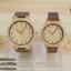 WoodenChroNos นาฬิกาข้อมือไม้คู่รัก สลักข้อความได้ สายหนัง WC201 thumbnail 1