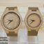 WoodenChroNos นาฬิกาข้อมือไม้คู่รัก สลักข้อความได้ สายหนัง WC202 thumbnail 1