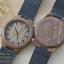 Wooden ChroNos นาฬิกาข้อมือไม้ สลักข้อความได้ สายหนังนิ่ม WC109 thumbnail 3