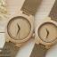 WoodenChroNos นาฬิกาข้อมือไม้คู่รัก สลักข้อความได้ สายหนัง WC202 thumbnail 2
