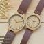WoodenChroNos นาฬิกาข้อมือไม้คู่รัก สลักข้อความได้ สายหนัง WC201 thumbnail 2