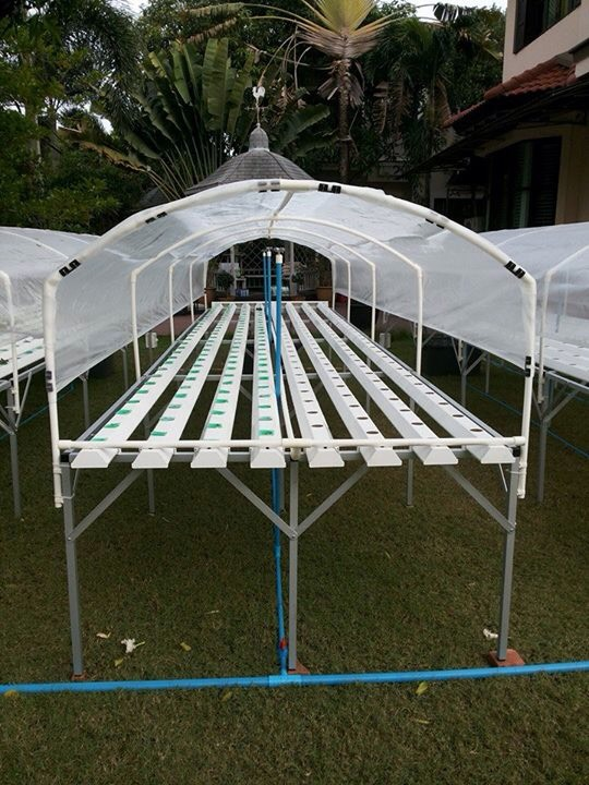 ชุดปลูกผักไฮโดรโปรนิกส์ แบบ ตั้งโต๊ะ ขนาด 6 เมตร จำนวน 8 รางปลูก