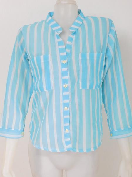 901905 ขายส่งเสื้อผ้าแฟชั่นเสื้อผ้าชีฟองเนื้อดี คอจีนงานสวยดูดีค่ะ กระเป๋าหน้า รอบอก 32-38 นิ้ว ยาว 24 นิ้ว