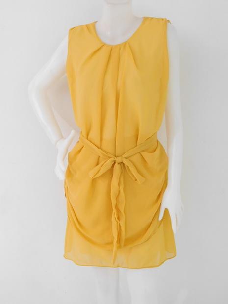 1201359 ขายส่งเสื้อผ้าแฟชั่นชุดเดรสผ้าชีฟองมีซับในตัว งานสวย สม๊อกเอว รอบอก 38 นิ้ว ยาว 35 นิ้ว