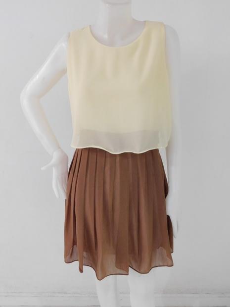 1201307 ขายส่งเสื้อผ้าแฟชั่นชุดเดรส ผ้าชีฟอง มีซับในตัวแบบสวยน่ารักมากไค่ะ รอบอก 36 นิ้ว เอว 28 นิ้ว ยาว 34 นิ้ว