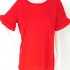 857197 ขายส่งเสื้อแฟชั่น คอกลมสีพื้น ผ้ายืดเนื้อดีแขนระบาย แบบสวยค่ะ รอบอก 38 นิ้ว ยาว 27 นิ้ว