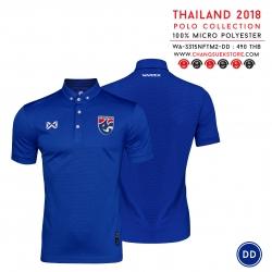 เสื้อโปโลช้างศึก ทีมชาติไทย 2018 WA-3315NFTM2 สีน้ำเงิน