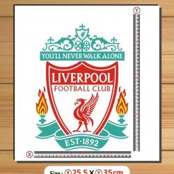 สติ๊กเกอร์ตัด Logo Liverpool สีตามแบบ สูง35cm.