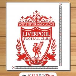 สติ๊กเกอร์ตัด Logo Liverpool สีเลือกได้ สูง35cm.