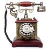 โทรศัพท์บ้านฐานสี่เหลี่ยมไสตล์วินเทจฉลุลายฟังก์ชันหมุน