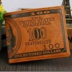กระเป๋าสตางค์ผู้ชาย 100 DOLLAR รหัส C005