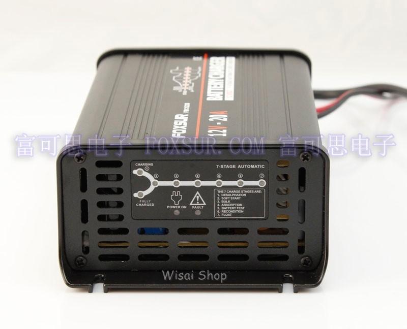 12V Volt 20A Car Battery Charger Smart Auto Reverse Pulse Desulfation Charger