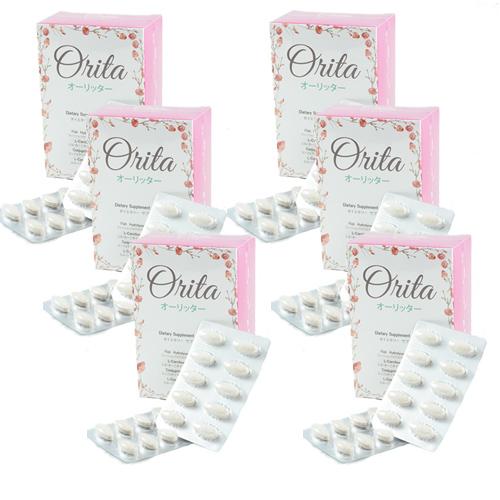 Orita โอริต้า อาหารเสริมบำรุงผิวและควบคุมน้ำหนัก โดย ปูเป้ อรหทัย คอร์ส 2 เดือน (6 กล่อง)