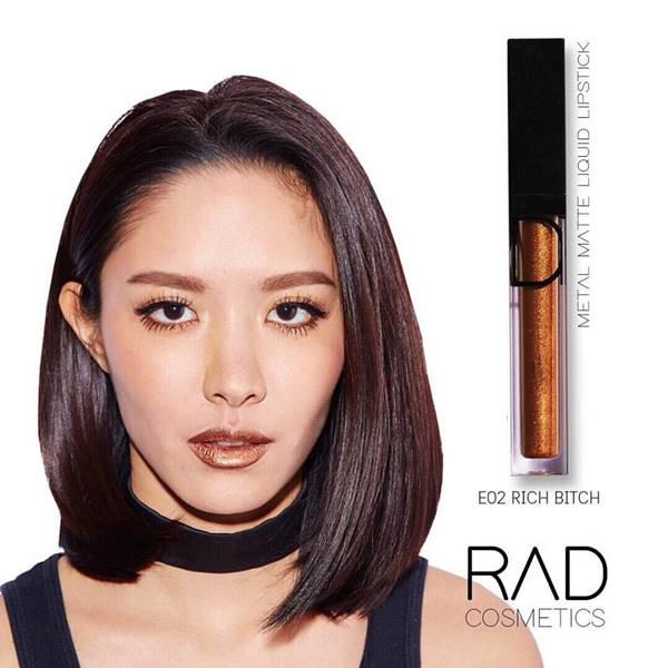 RAD liquid lipstick ทั้งแบบ เมทัลลิค และ แมท ของชาใช้ส่วนผสมเกรดดีที่สุดจาก 1 USA เนื้อลิปดีมาก