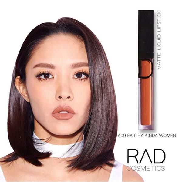 RAD liquid lipstick ทั้งแบบ เมทัลลิค และ แมท ของชาใช้ส่วนผสมเกรดดีที่สุดจาก เนื้อลิปดีมาก