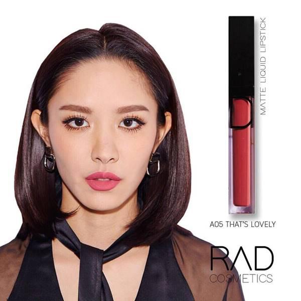 5 RAD liquid lipstick ทั้งแบบ เมทัลลิค และ แมท ของชาใช้ส่วนผสมเกรดดีที่สุดจาก USA เนื้อลิปดีมาก