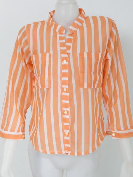 901904 ขายส่งเสื้อผ้าแฟชั่นเสื้อผ้าชีฟองเนื้อดี คอจีนงานสวยดูดีค่ะ กระเป๋าหน้า รอบอก 32-38 นิ้ว ยาว 24 นิ้ว