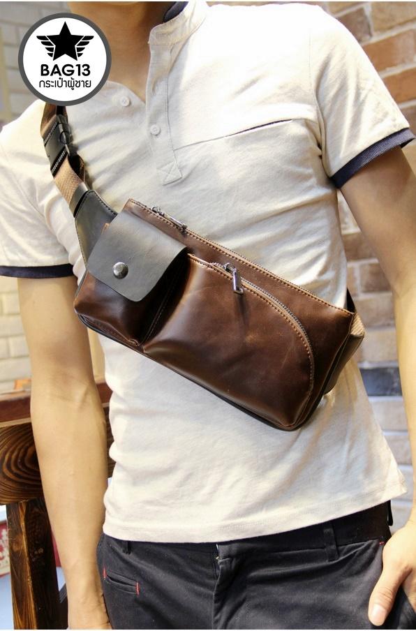 กระเป๋าคาดอกผู้ชาย รหัส B002