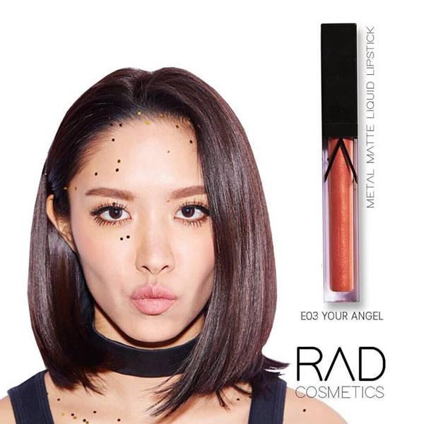 RAD liquid lipstick ทั้งแบบ เมทัลลิค และ แมท ของชาใช้ส่วนผสมเกรดดีที่สุดจาก USA เนื้อลิปดีมาก