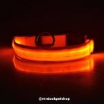 ปลอกคอ LED สีส้ม S