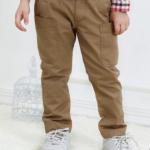 W003 : กางเกงขายาวสีน้ำตาลแต่งกระเป๋า (3)