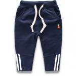 W049 : กางเกงขายาวสีกรมท่าแต่งลายช่วงปลายขา (2,3,4,5)