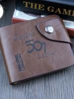 กระเป๋าสตางค์ผู้ชาย Genuine [สีน้ำตาล] รหัส C007