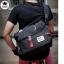กระเป๋าสะพายข้างผู้ชาย เนื้อผ้า Oxford Spinning กันน้ำสีดำ รหัส A014 thumbnail 7