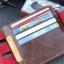 กระเป๋าสตางค์ผู้ชาย Genuine [สีน้ำตาล] รหัส C006 thumbnail 3