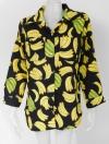 1101127 ขายส่งเสื้อแฟชั่น เชิ้ตแขนยาวลายกล้วย งานสวยมากๆค่ะ แบบกำลังนิยมในตอนนี้ค่ะ รอบอก 34-40 นิ้วใส่ได้ค่ะ ยาว 30 นิ้ว